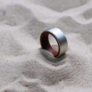 Ring Holz Silber