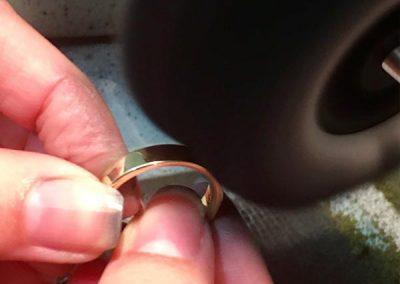 Schmuck selber machen Ring polieren