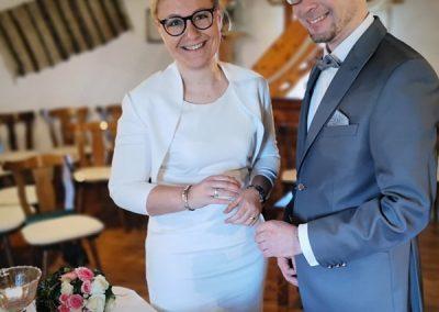 Hochzeit mit Goldschmiede Ehering
